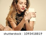 woman with long hair and...   Shutterstock . vector #1093418819