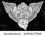 rose flower beautiful bouquet... | Shutterstock .eps vector #1093427984