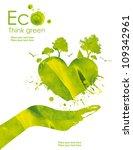 illustration environmentally... | Shutterstock . vector #109342961