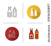 ketchup and mustard icon. flat... | Shutterstock . vector #1093430897