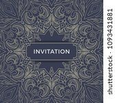 save the date invitation card... | Shutterstock .eps vector #1093431881