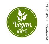 vegan food icon vector  | Shutterstock .eps vector #1093433189
