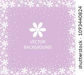 vector background white flowers ... | Shutterstock .eps vector #1093440824