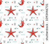 seamless vector pattern with... | Shutterstock .eps vector #1093446731