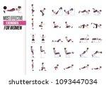 set of sport exercises.... | Shutterstock .eps vector #1093447034