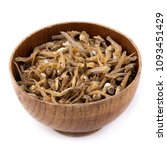 dried anchovies fish isolated... | Shutterstock . vector #1093451429