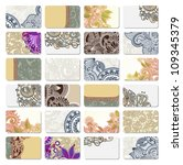 collection of colorful floral... | Shutterstock . vector #109345379