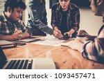 detailed consultation between... | Shutterstock . vector #1093457471