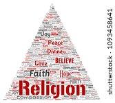 vector conceptual religion  god ...   Shutterstock .eps vector #1093458641