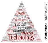 vector conceptual digital smart ... | Shutterstock .eps vector #1093459619