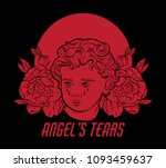 angel's tears. vector hand... | Shutterstock .eps vector #1093459637