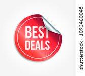 best deals shopping vector... | Shutterstock .eps vector #1093460045