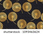 luxury gold geometric dandelion ... | Shutterstock .eps vector #1093463624