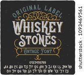 vintage label typeface named ... | Shutterstock .eps vector #1093469561