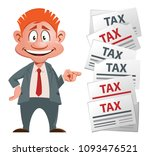 optimistic businessman and his... | Shutterstock .eps vector #1093476521