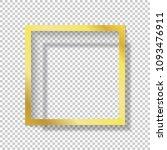 modern gold vector empty frame... | Shutterstock .eps vector #1093476911