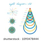 set of cycle percentage flow... | Shutterstock .eps vector #1093478444