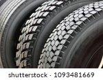 big truck wheel a black tires... | Shutterstock . vector #1093481669