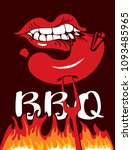 vector banner with flames and... | Shutterstock .eps vector #1093485965