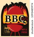 vector banner for bbq party... | Shutterstock .eps vector #1093485974