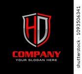 letter hd logo design   Shutterstock .eps vector #1093506341