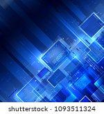 blue dark tech background.... | Shutterstock . vector #1093511324