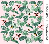 summer tropical pattern with... | Shutterstock .eps vector #1093519421