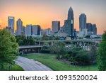 City Skyline Of Charlotte Nort...