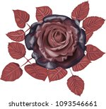gothic rose   black roses with... | Shutterstock .eps vector #1093546661