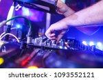 dj djing in a nightclub with... | Shutterstock . vector #1093552121