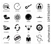 set of 16 simple editable icons ... | Shutterstock .eps vector #1093560389