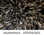bamboo stack a lot. | Shutterstock . vector #1093561601