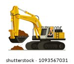 construction worker with yellow ... | Shutterstock .eps vector #1093567031