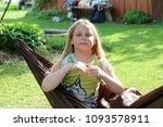 little girl having a rest in a...   Shutterstock . vector #1093578911