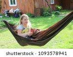 little girl having a rest in a...   Shutterstock . vector #1093578941
