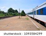 passenger car on platform in... | Shutterstock . vector #1093584299