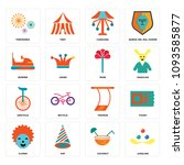 set of 16 simple editable icons ...   Shutterstock .eps vector #1093585877