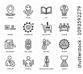 set of 16 simple editable icons ... | Shutterstock .eps vector #1093592279
