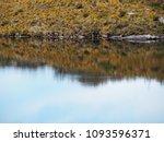 reflection on lake  | Shutterstock . vector #1093596371