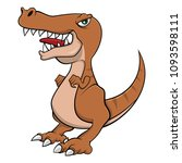 tyrannosaurus standing and roar ... | Shutterstock .eps vector #1093598111