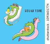 Cartoon Cute Relax Time...
