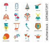 set of 16 simple editable icons ...   Shutterstock .eps vector #1093607297