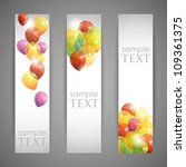 Set Of Holiday Banners With...