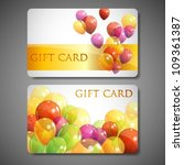 gift cards with multicolored... | Shutterstock .eps vector #109361387