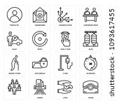 set of 16 simple editable icons ... | Shutterstock .eps vector #1093617455
