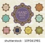 vintage label for retro banners....   Shutterstock .eps vector #109361981