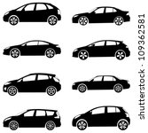 Stock vector silhouette cars on a white background vector illustration 109362581