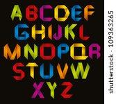 origami style alphabet  vector... | Shutterstock .eps vector #109363265