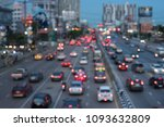 the city's traffic at night | Shutterstock . vector #1093632809
