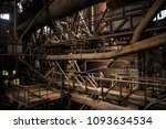 old factory with sun beams.... | Shutterstock . vector #1093634534